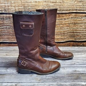 Caterpillar Misa Boots Brown Leather sz 7.5